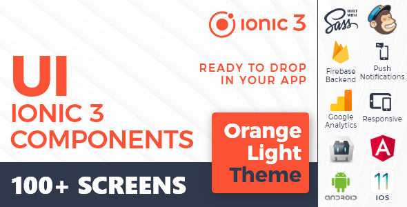 Ionic 3 UI Theme/Template App - Material Design - Yellow Dark - 4