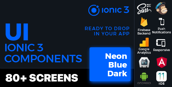 Ionic 3 UI Theme/Template App - Material Design - Yellow Dark - 2