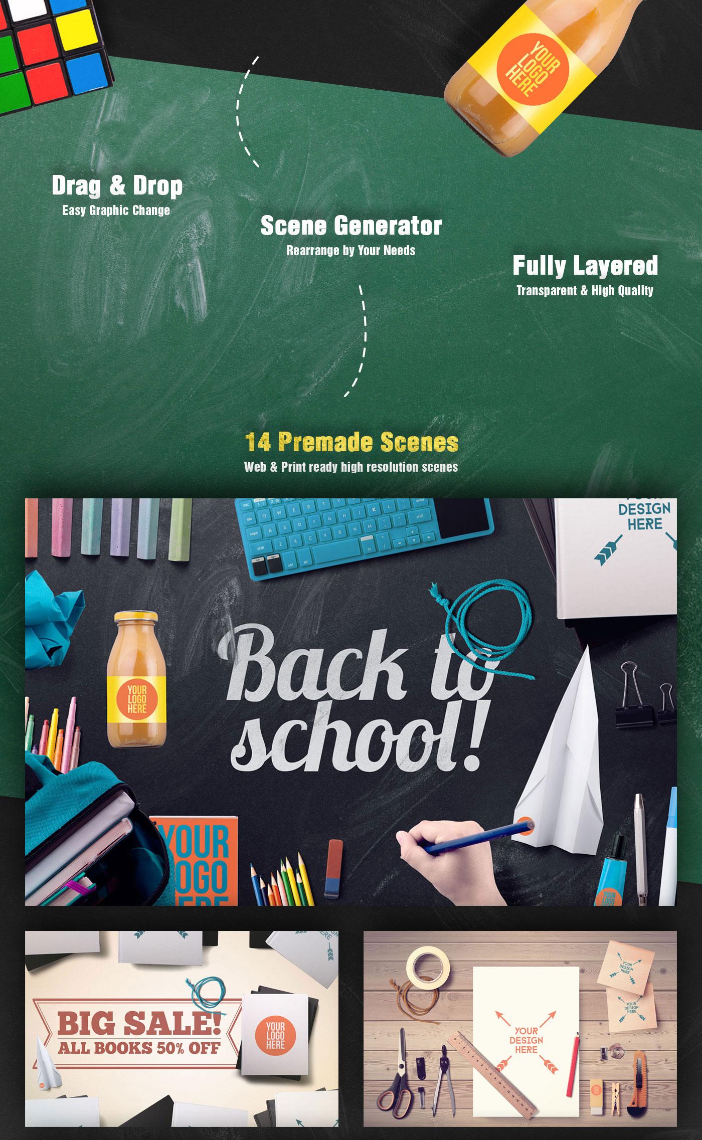 Back To School Mockups and Hero Image Scene Generator – CSForm