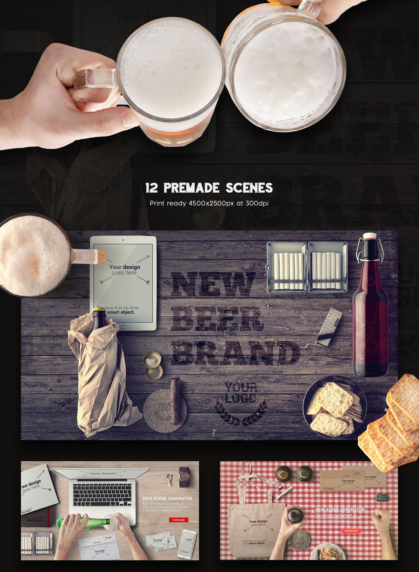 Beer & Bar Mockup & Hero Images Scene Generator – CSForm