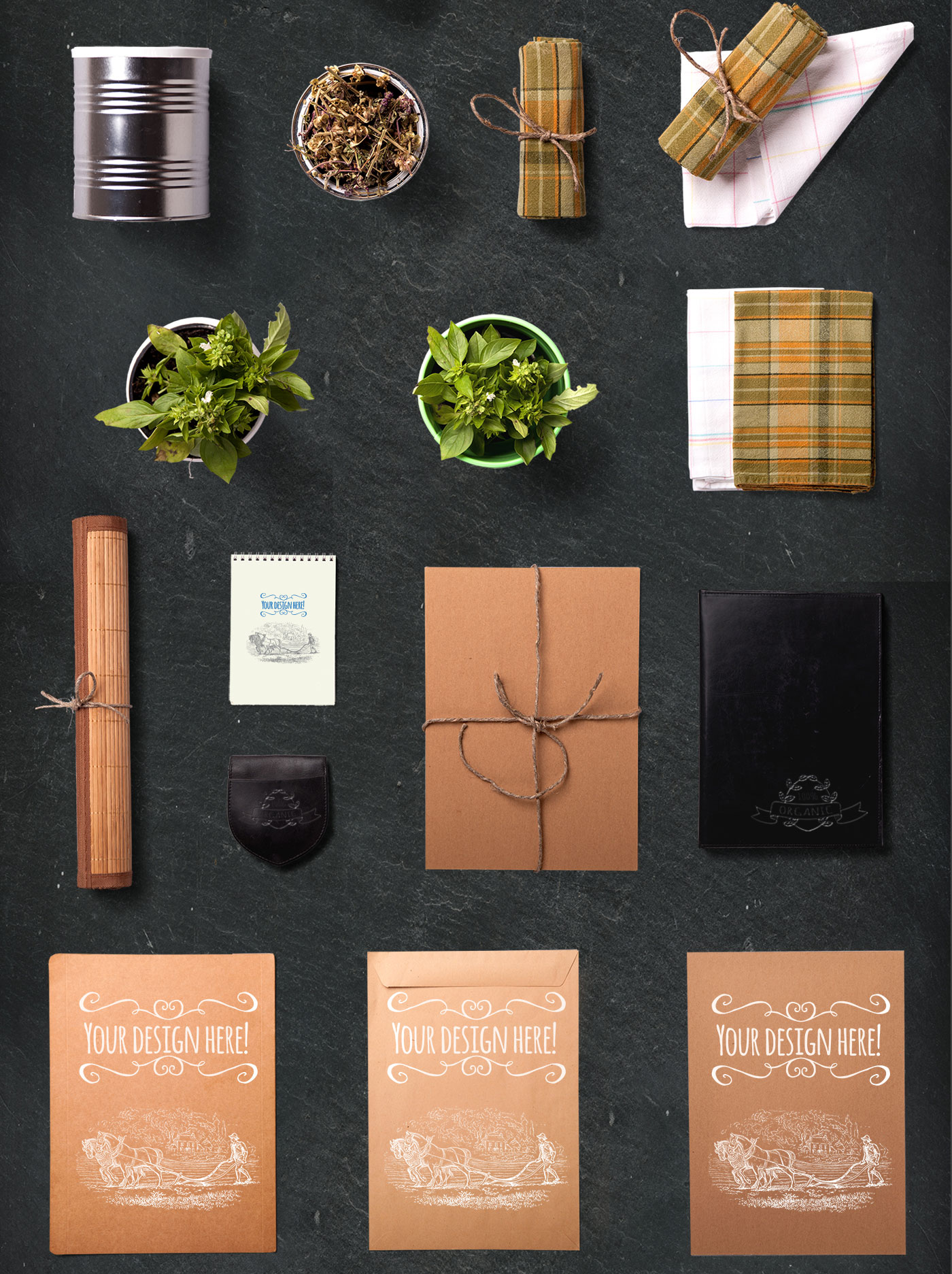 Branding material and spices
