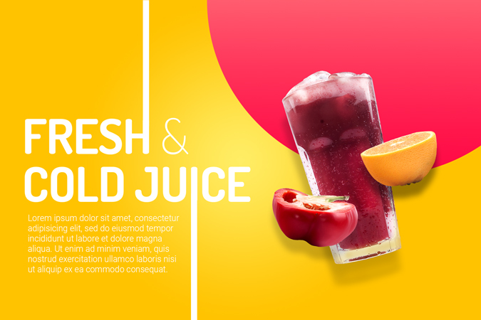 Free organic juice hero image template