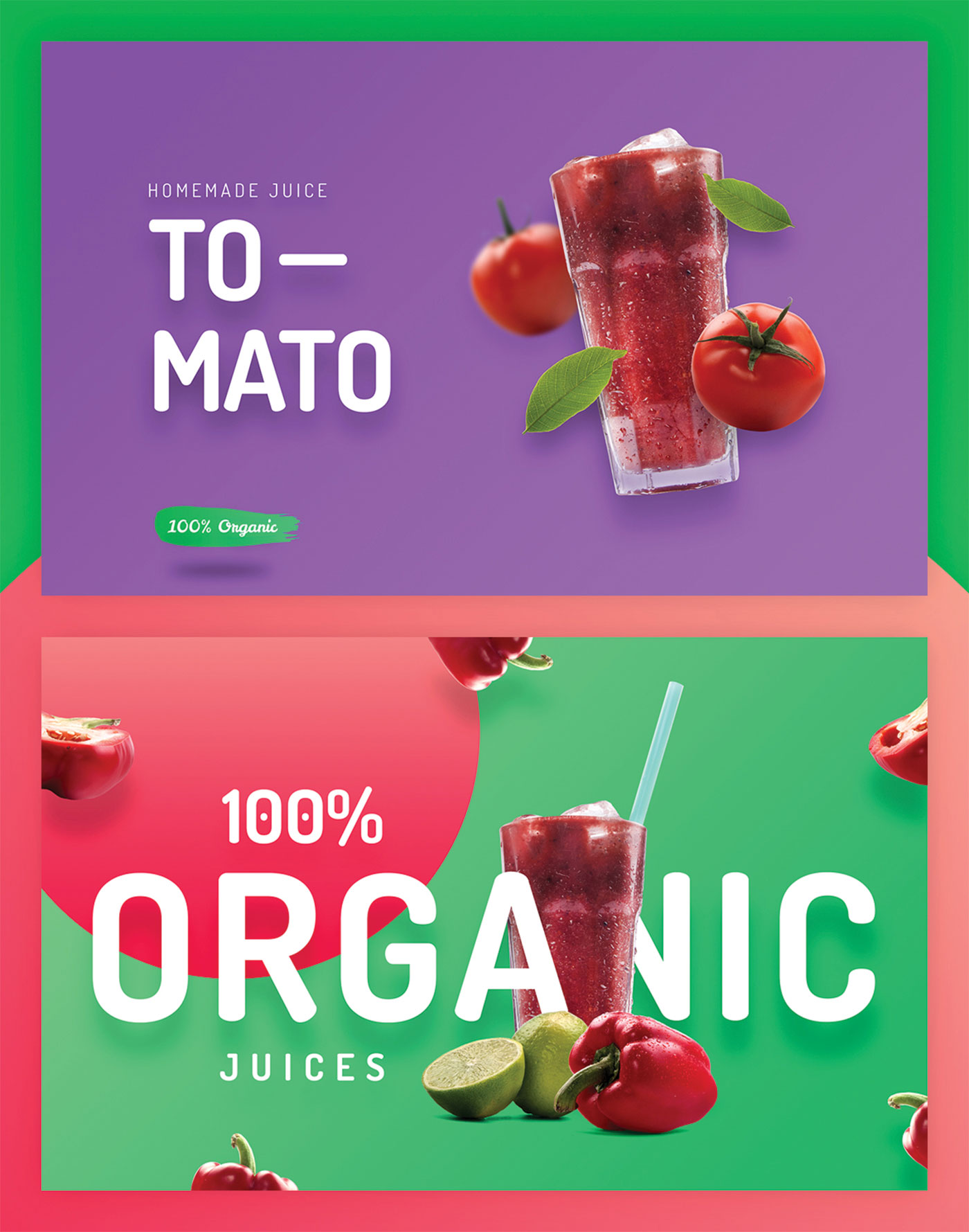 Fresh juice and tomato