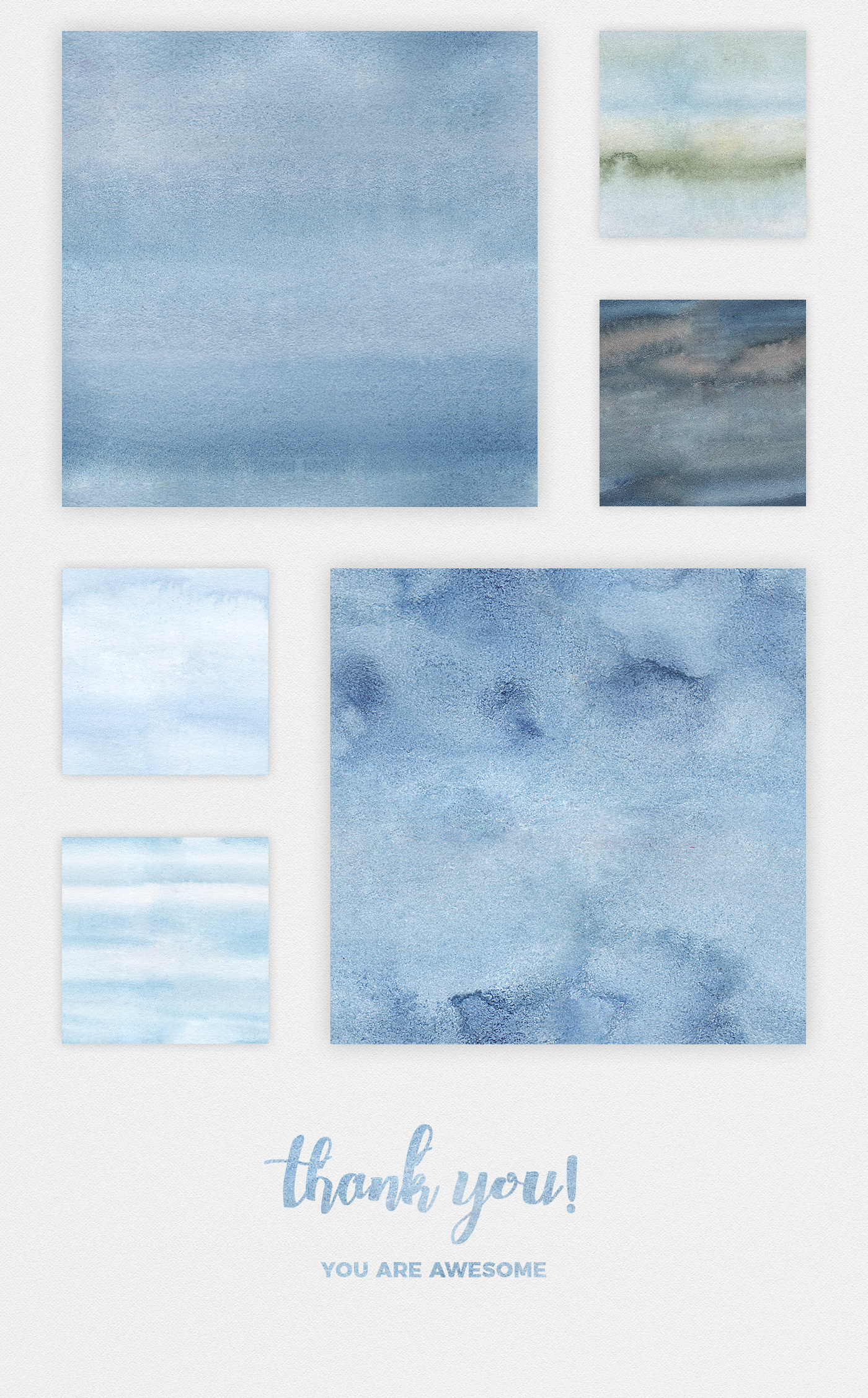 High-resolution blue watercolor textures