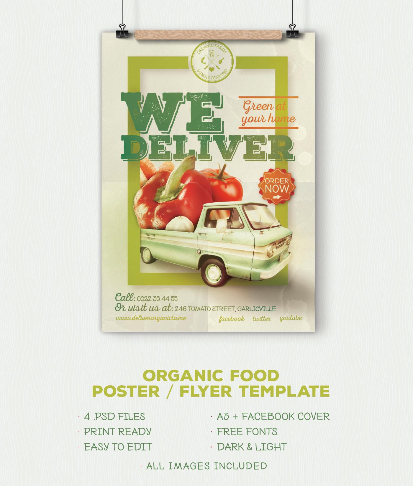 Organic Food Poster Light Version