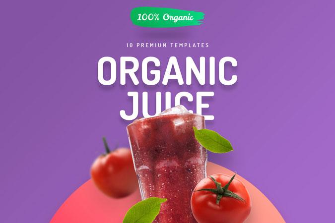 Organic Juice – 10 Premium Hero Image Templates