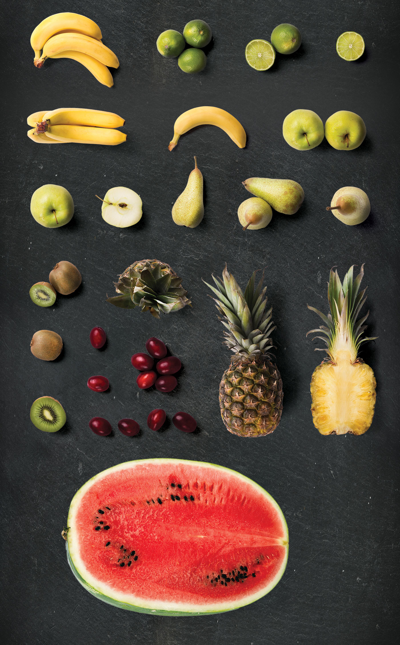 Pineapple and watermelon