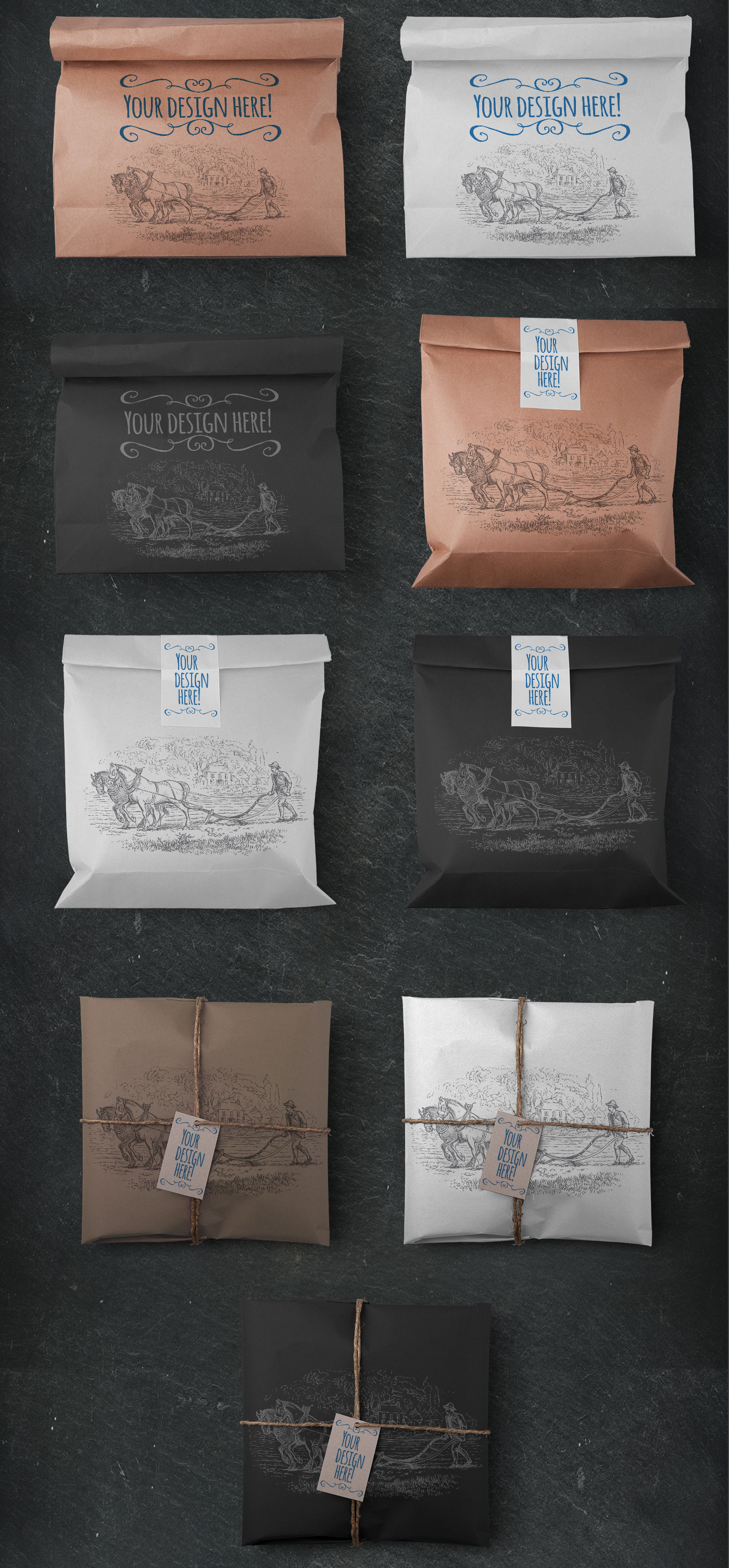 Vintage package tied up with string