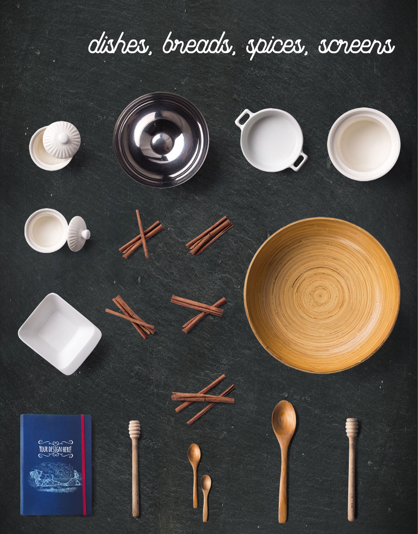 Wooden spoons and cinnamon sticks