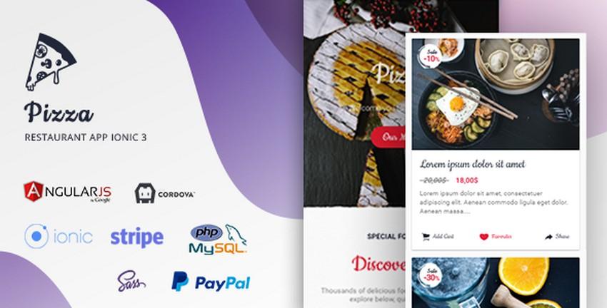 Top 10 Ionic 3 Restaurant App Themes/Templates | CSForm