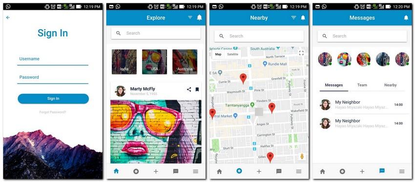 Top 10 Ionic 3 Social App Templates | CSForm