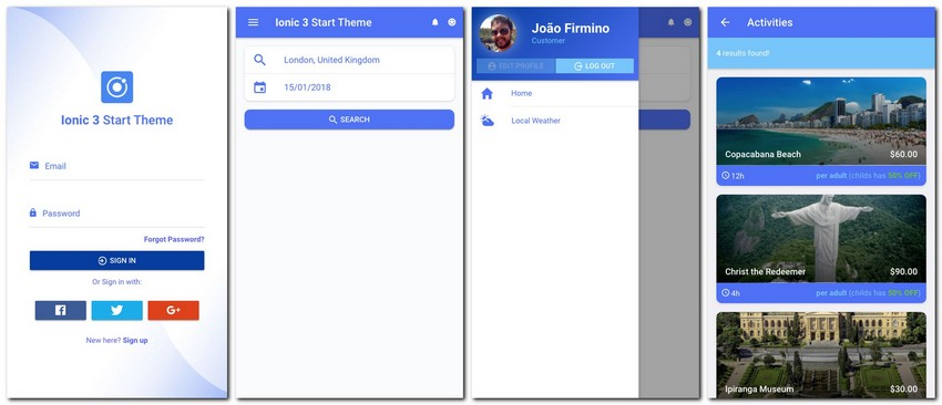 Top 11 Free Ionic 3 Templates | CSForm