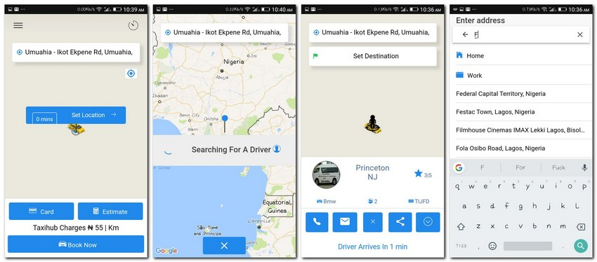 Top 10 Ionic 3 Taxi Booking Templates | CSForm