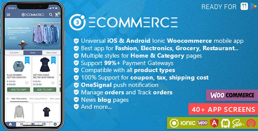 Top 10 Ionic 3 Woocommerce Templates | CSForm