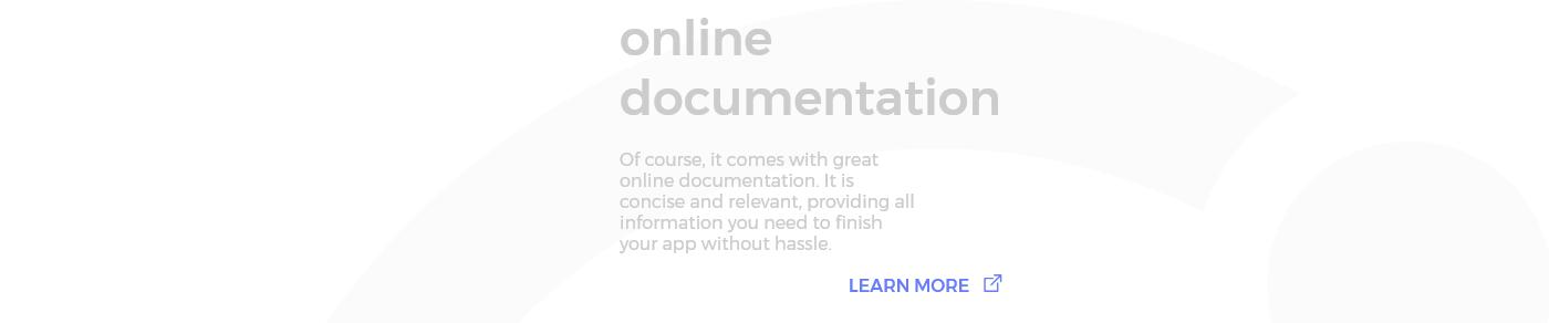 Online documentation for login component