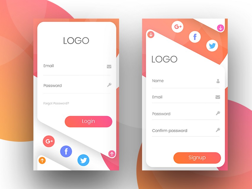Top 12 App Login Screen Examples To Spark Your Inspiration | CSForm