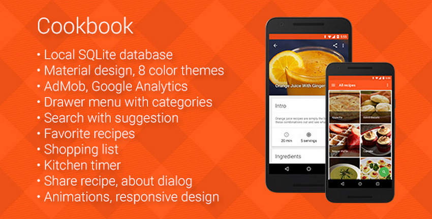 9 best android material design app templates csform