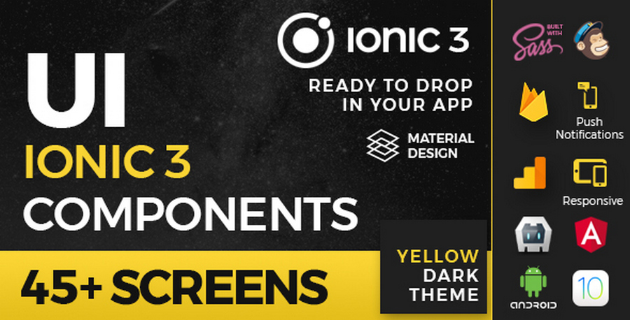Ionic App Templates With Dark UI Design: Top 11 List | CSForm
