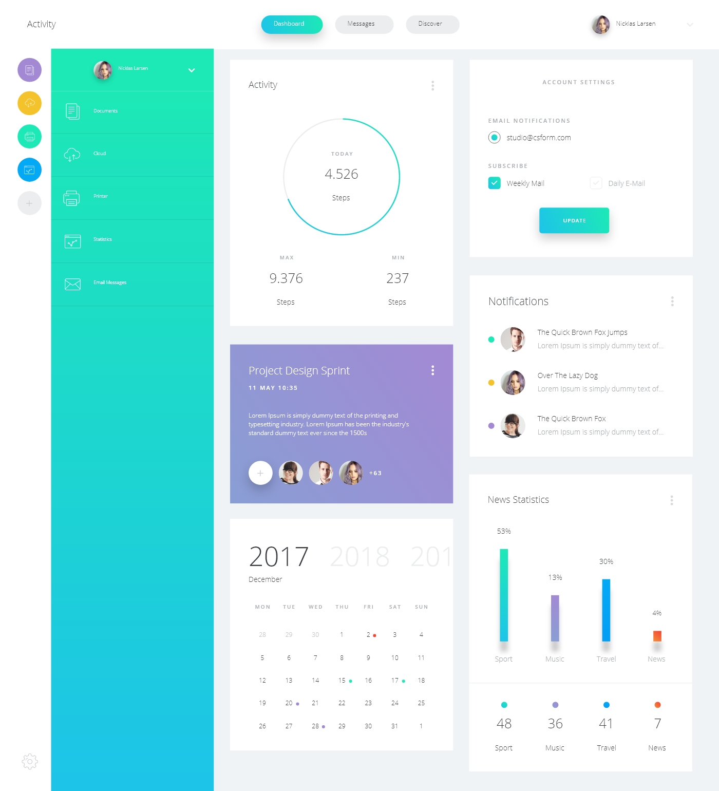 Datta Dashboard UI Kit – Free Sample for Adobe XD – CSForm