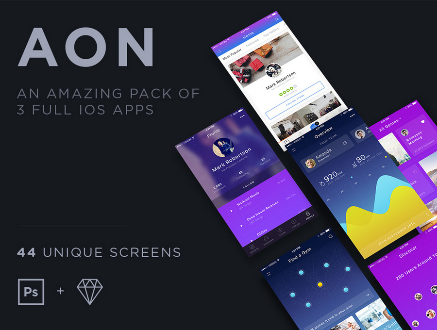 12 Best Fitness App UI Kits For Designers | CSForm