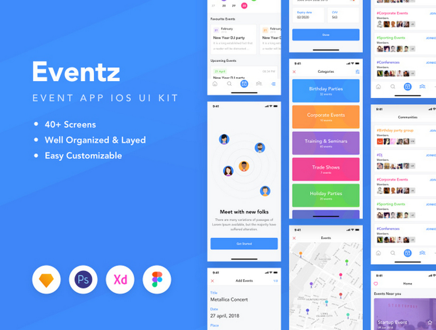 11 Best Events Mobile UI Kits | CSForm