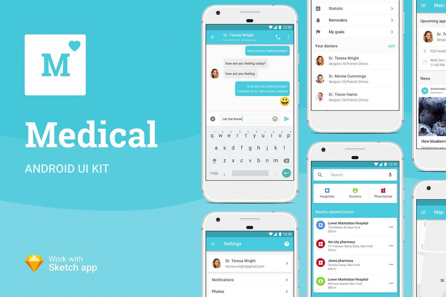 Top 13 UI Kits for Designing Healthcare Apps in 2019 | CSForm