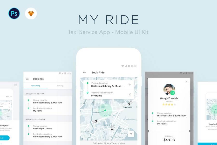 Taxi Mobile App UI Kits: Top 12 List | CSForm