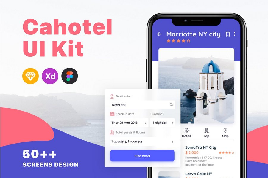 Best hotel app ui kits for ios and android csform - Best room design app ...