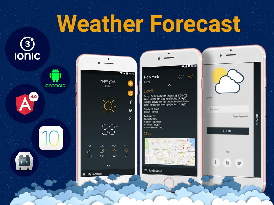 Building a Weather App with Ionic Templates   CSForm