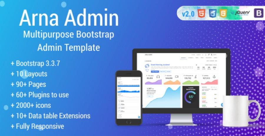 Top 10 Bootstrap Admin Templates for 2019 | CSForm