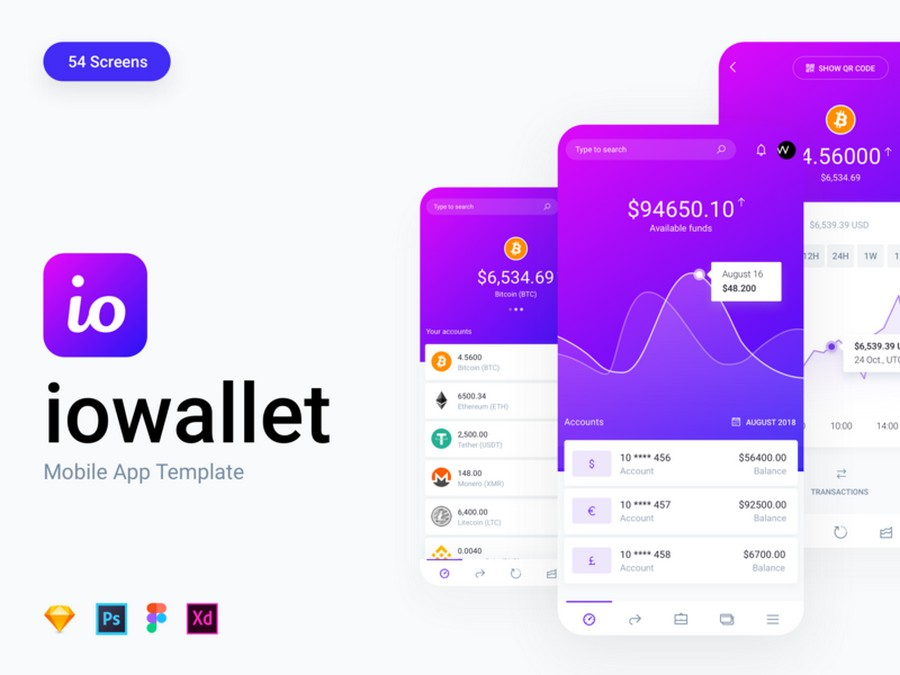 Top 12 Mobile Wallet App UI Kits for iOS and Android | CSForm
