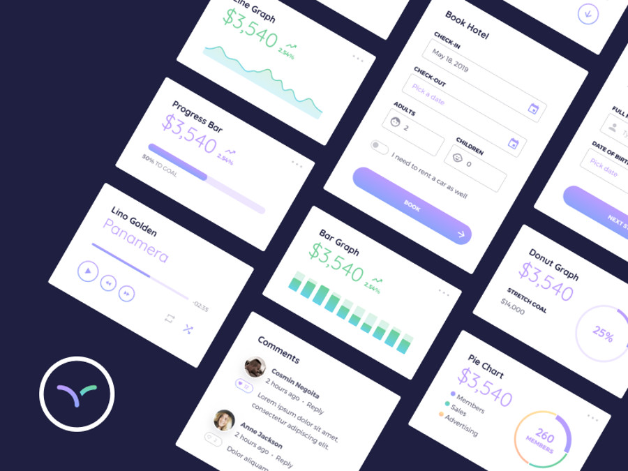 Best Free & Premium Figma App UI Kits for 2019 | CSForm