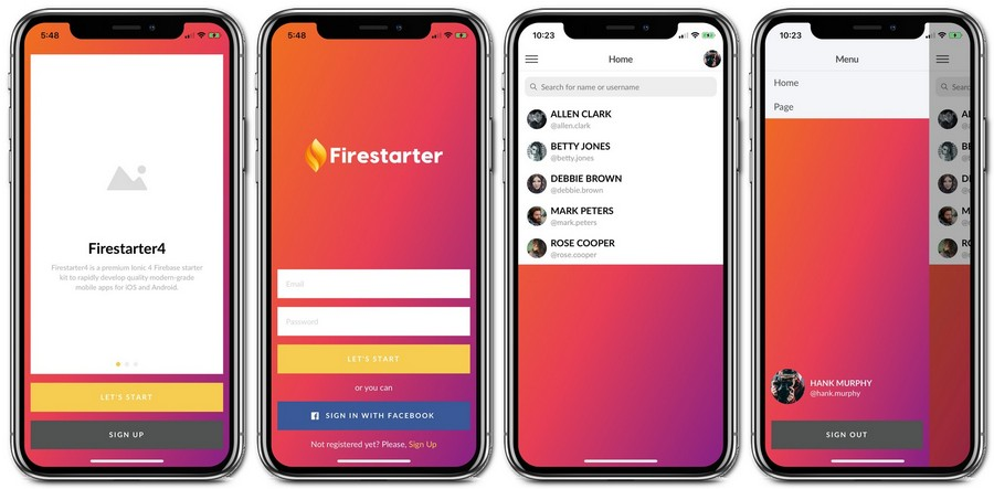 Top-Notch Ionic 4 App Templates with Firebase Backend | CSForm