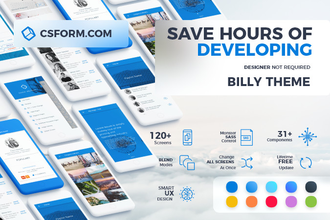 Billy – Ionic 4/Angular 7 UI Theme/Template App – Multipurpose