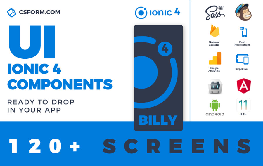 Top 10 Ionic 4 App Templates | CSForm